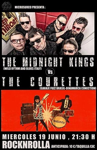 The Courettes + The Midnight Kings - Rocknrolla - Miércoles 19 de junio 2019